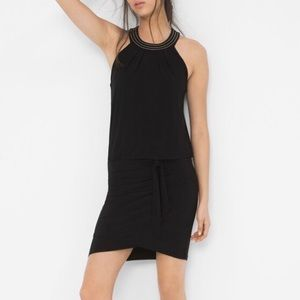 WHBM Halter Sleeveless Blouson Dress, S